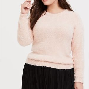 Torrid Size 2 Blush Pink Fuzzy Knit Sweater